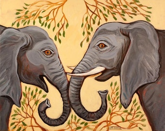 Talking Elephants - Print