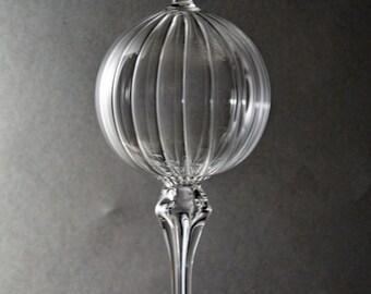 Kristallklares Glas Ornament, Mundgeblasene Ornament, optisches Glas Ornament, Suncatcher, Glas Ornament, Ornament, handgefertigten Schmuck geblasen