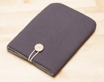 ipad mini sleeve / ipad mini case / ipad mini cover / iPad mini retina case, ipad mini 2 3 case, unisex  - plain charcoal