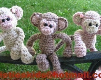 Micro Monkeys Crochet pattern