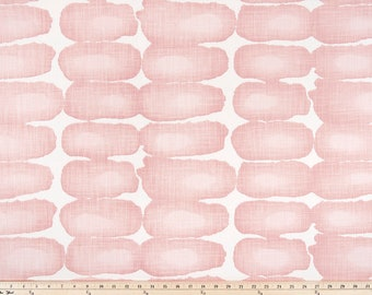 Blush Pink Shibori Dot Print. Blush and white Premier Prints.   Slub canvass Fabric by yard. Medium decor fabric.
