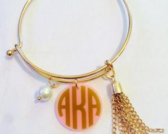 Famous Maker (you know who) Inspired Monogram Bracelet
