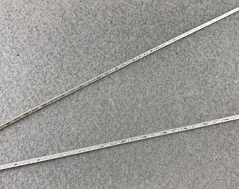 Sterling Silver Pattern Wire, Dead Soft, 1.5mm flat, 18gauge, 2 one-foot pieces