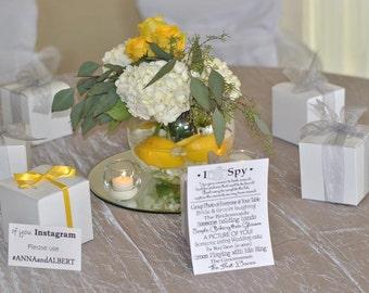 I SPY Wedding Game, Instant Download  DIY Printable, Photo Challenge. Keepsake Game. Wedding Reception. 5 X 7 and 4 X 6, Wedding Games