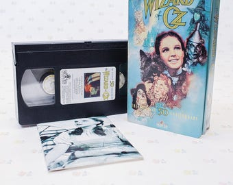 1980s Wizard of Oz VHS Tape 50th Anniversary Edition, Wizard of Oz Collectible, Wizard of Oz Gift for Film Buff, Classic Movie Lover Gift,
