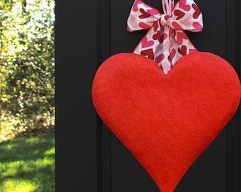 Valentine Party Decoration - Heart Wreath - Valentine Present - Valentine Gift - Quick Ship