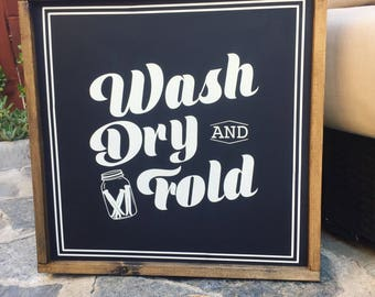 Wash Dry & Fold - 2x2 FT