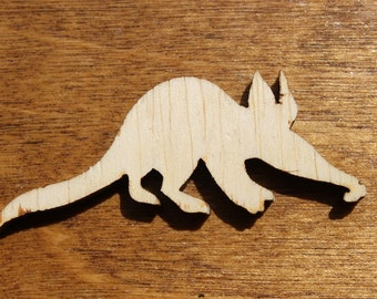 Large Aardvark Sign Wooden Cutouts - Shapes for Projects or Other Use