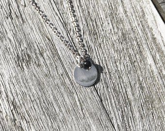 Necklace Plaque with sterling silver