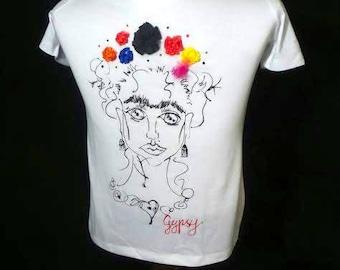 Frida Kahlo Handpainted T-shirt