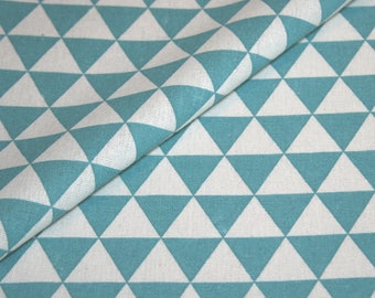 Canvas Fabric fabric fabric geometric pattern cotton material square blue white price per meter