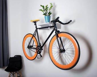 Berlin - Wall bike rack / bike holder / wall stand for bike storage / Gray