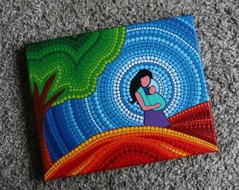 Mandala art painting baby wearing