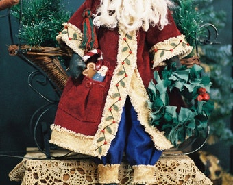 Sinterclaus - Cloth Doll E-Pattern  24in Old World Santa doll e-pattern