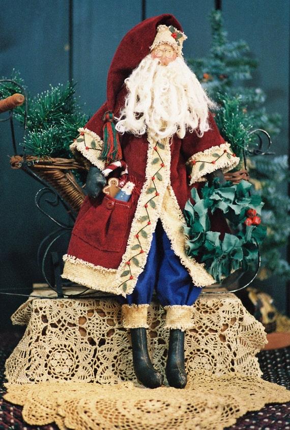 Sinterclaus - Cloth Doll E-Pattern  24in Old World Santa doll e-pattern