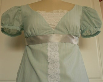 Pride and prejudice inspired tea gown