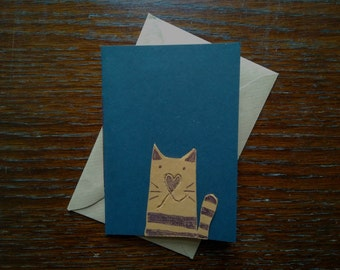 Leather Cat Lovers Card