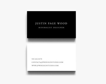 Calling Cards, Business Card Design, Modern Business Card, Business Card Templates, Black and White Business Cards, Classic Business Cards