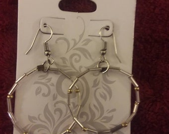 Silver and Gold Dot Earrings