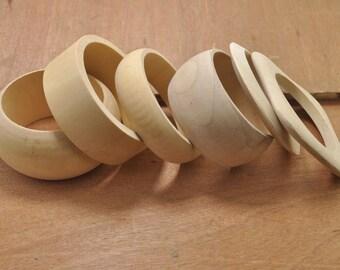 Wooden Bangle Unfinished,natural wood bangle bracelet,6pcs assorted original round bangle wood bracelets findings