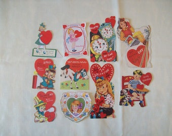 Assorted Greeting Cards 1940's-1950's (Lot of 55) Vintage. Price Includes Shipping.