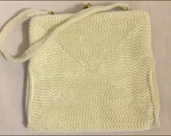 Vintage Beaded Bag: Delill Creation/Beaded Clutch/Evening Bag