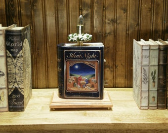 Silent Night Christmas Book Lamp