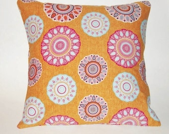 Pillow Cover, Coral Pillow Cover, Coral and Pink Pillow Cover, Summer Pillow, Porch Pillow, Cantaloupe Colored Pillow