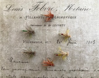 Tri-Dry Trout Dry Flies Fly Fishing Hand-tied Patterns (Set of 6)