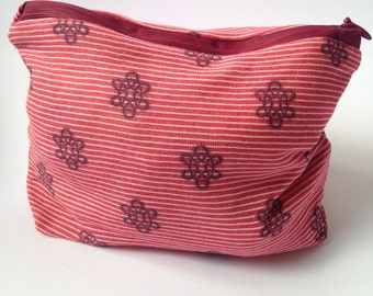 Cotton Purse, Make up Bag, Pouch