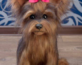 Puppy Lucy Yorkies! Yorkshire Terrier, York toy, Toy, little York, Terrier , dog, plush dog, plush toy, teddy york,