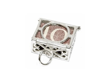 Sterling Silver Opening Mad Money 10 Shilling Note Charm For Bracelets