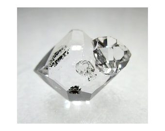 4.3 gram Herkimer Diamond CRYSTAL w/ Rider & Anthraxolite - ww1080