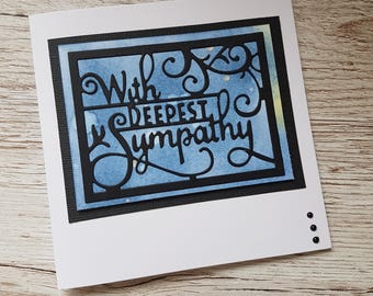 With deepest sympathy card / Handmade sympathy card / Condolence card / Bereavement card