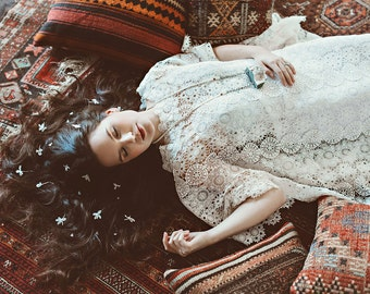 Moroccan Holiday Lace Dress - Made to Order