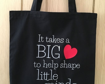 Black, white or olive end of year Teacher Gift or TA or nursery worker