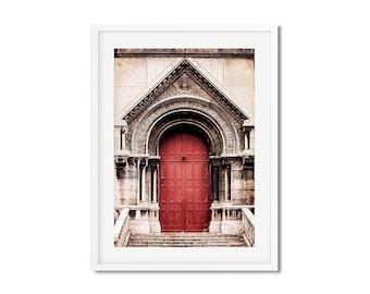Fine Art Photography of a Parisian Door in Montmartre - Canvas Print of Paris - France - Wall Decoration - Travel