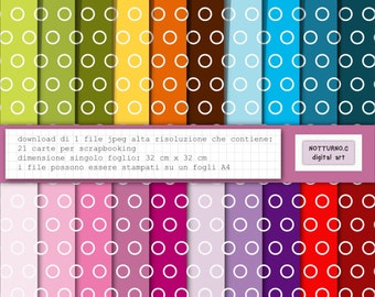 Digital Paper Scrapbooking. Size 36 cm x 38 cm. Set of 20 digital paper. Instant download. Ideal for Packaging and Making Cards