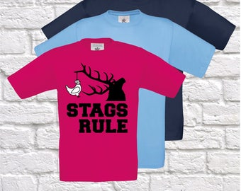 Stags Rule, Stag Do Tshirt, Boys Night Out Matching Tshirts