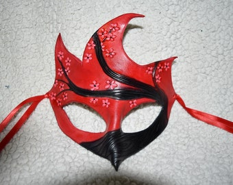 Cardinal mask cherry blossom mask - this one available now