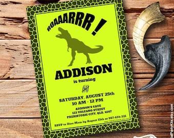 Girl dinosaur invite etsy dinosaur invitation dino invitation editable printable do it yourself instant download solutioingenieria Gallery