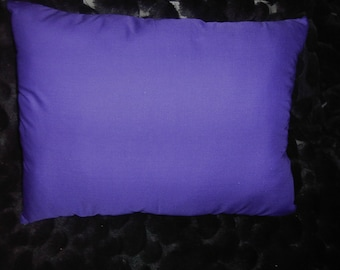 Purple Cotton Throw Pillow, 20 x 15.5