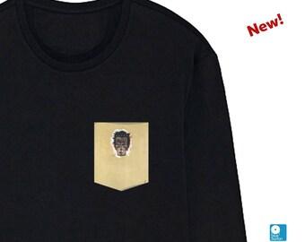 Egon Schiele T-Shirt Self-Portrait Pocket Tee Mens Womens Long Sleeve Austrian Artist Austria Tshirt Valentine's Day Gift Art Shirt