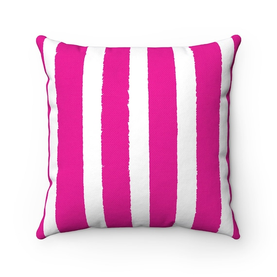 Magenta Pink Striped Throw Pillow . Magenta Pillow . Pink Lumbar Pillow . Fuchsia Striped Pillow . Magenta Pink Cushion 14 16 18 20 26 inch