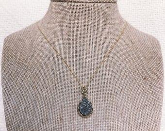 Graphite Pendant Necklace