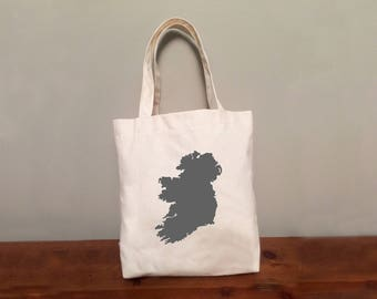 Ireland Tote Bag with Optional Heart