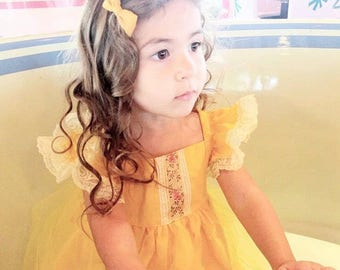 Belle Dress - yellow Princess Dress - Belle costume - princess costume - yellow princess costume - Christmas princess dress - princess -