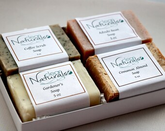 Exfoliating Soap Gift Set -  Boyfriend Gift, Soap Gift Set,  Natural Handmade Soap