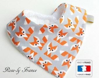 Bib baby bandana 100% organic Fox 0-18 months