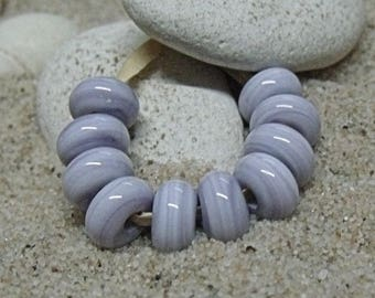 Purple Marble, Lampwork Spacer Beads, SRA, UK